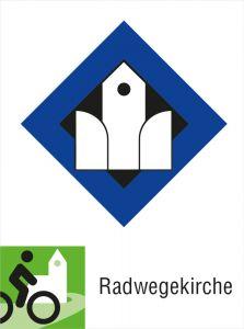 Acrylschild Radwegekirche